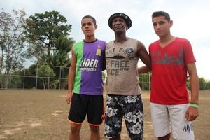 Adriano Oliveira, Paulão e Marcos Evangelista (Foto: João Paulo Maia)