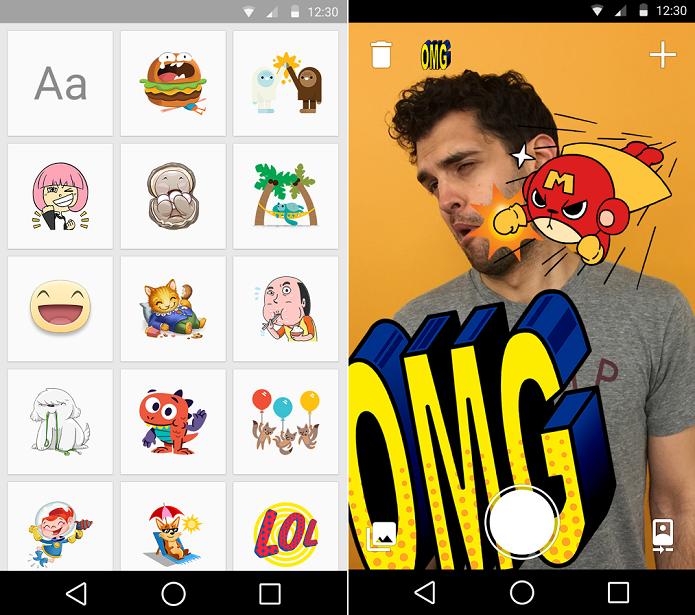 Coloque emoticons nas suas fotos com Stickered (Foto: Divulgação)