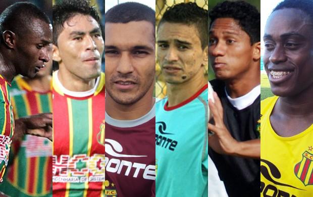 Seis atletas brigam por vaga no ataque do Sampaio (Foto: Montagem/Globoesporte.com)