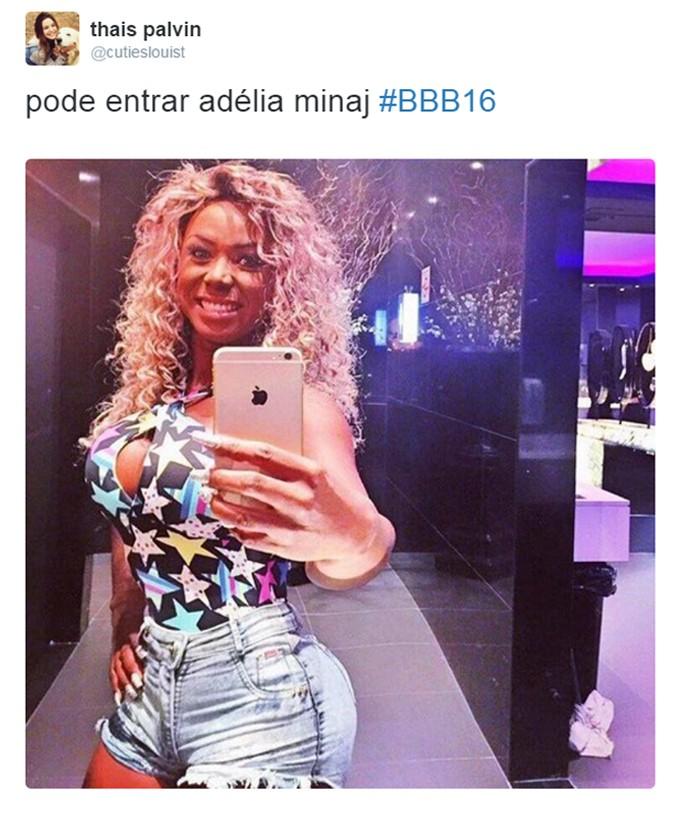 O corpão de Adélia fez o público compará-la com a rapper Nicki Minaj (Foto: Reprodução )