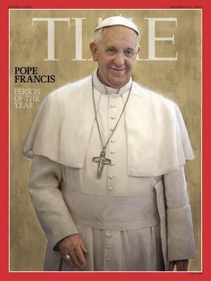 """Capa da revista americana Time é estampada com foto do Papa Francisco, escolhido """"personalidade do ano"""" pela publicação (Foto: AP Photo)"""