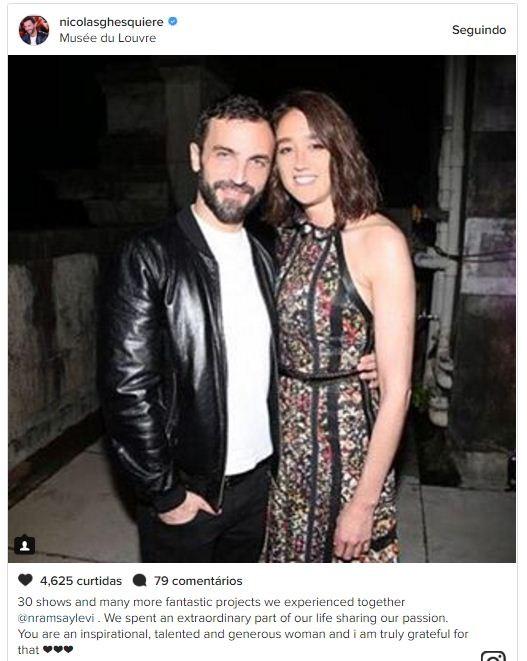 Nicolas Ghesquière se despediu da amiga-estilista no fim do desfile da Louis Vuitton (Foto: Reprodução/Instagram)
