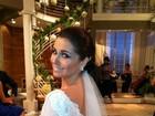 Giovanna Antonelli posta foto vestida de noiva no Twitter