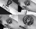 Árbitro de finais de Liga e Euro faz tatuagens em homenagem a feito