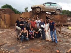 Equipe do longa A Serpente em Mariana (Foto: Divulgação)