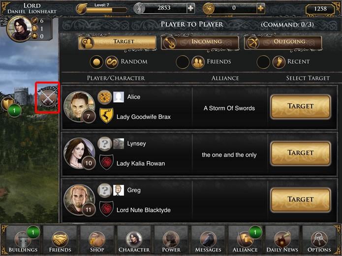 Clicando no ícone em destaque é possível ter acesso à interface de Player vs. Player do game (Foto: Reprodução/Daniel Ribeiro)