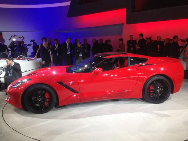 Corvette Stingray estreia no Salão de Detroit (Foto: Luciana Oliveira/G1)