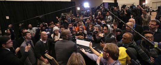 """Tietado em coletiva, Kobe Bryant curte seu último All-Star na NBA: """"Estou realmente feliz"""" (Getty Images)"""