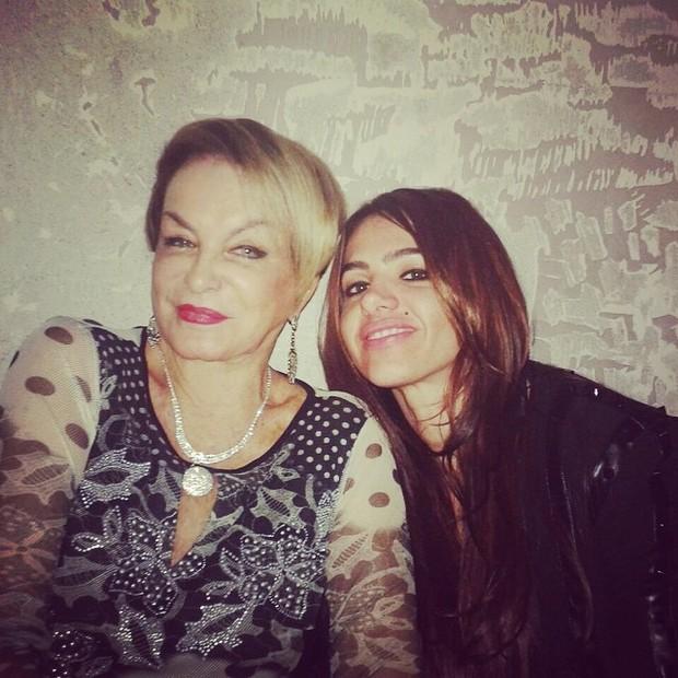 Cacá Werneck e Conceição, mãe de Monique Evans (Foto: Instagram / Reprodução)