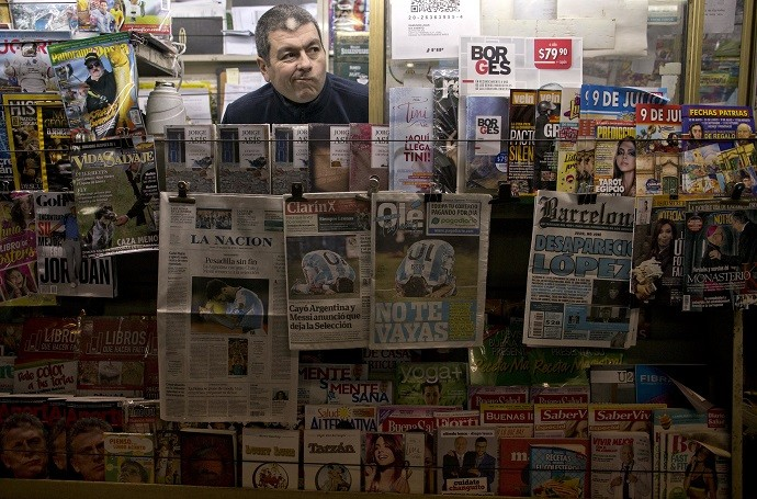 Jornais Argentina Messi Copa America (Foto: AP)