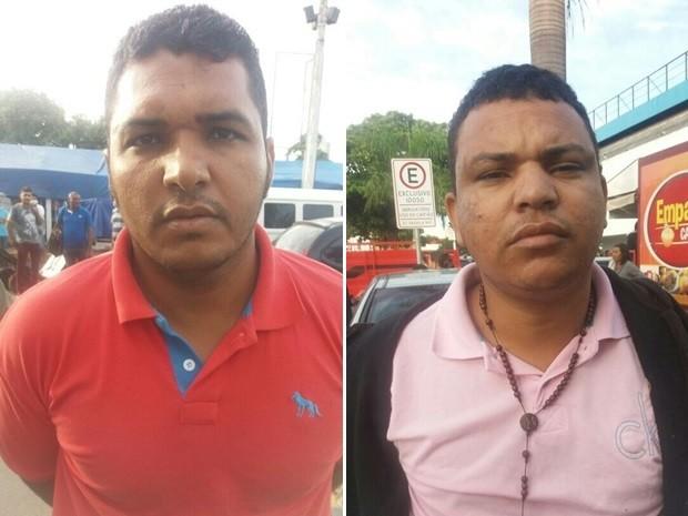 Jervan Santos, de 33 e Lourival da Silva, 26, foram detidos em Goiânia Goiás suspeitos de furto a bancos e um homicidio na BA (Foto: Divulgação/Graer)