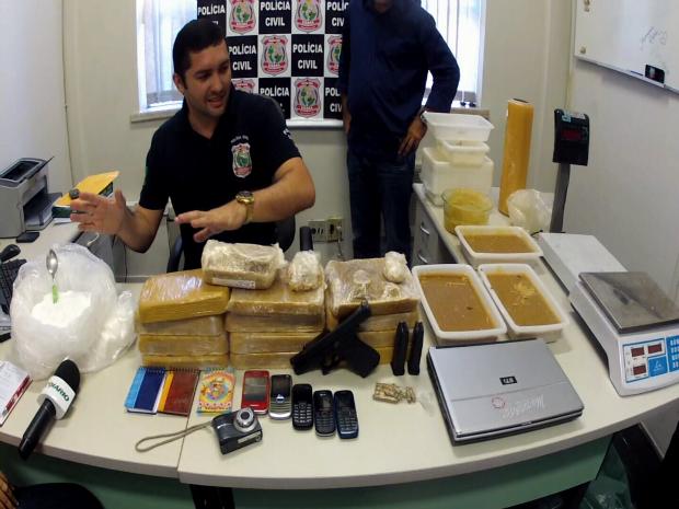 Grupo fabricava droga no Ceará e vendia em Rio Grande do Norte (Foto: TV Verdes Mares/Reprodução)