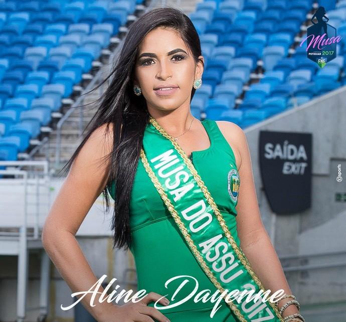 MUSA DO CAMPEONATO POTIGUAR 2017 - Aline Dayenne Bernardo de Menezes - Assu (Foto: Divulgação)
