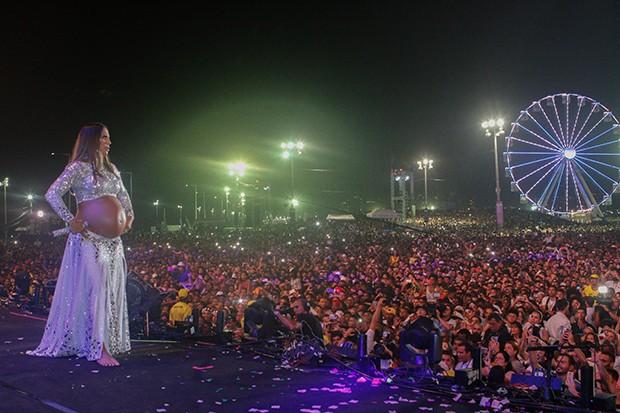 A cantora Ivete Sangalo fez seu último show antes de dar à luz (Foto: Ricardo Cardoso / G.LAB)