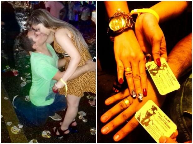 Casal ficou noivo durante show de Wesley Safadão em Rio Branco (Foto: Arquivo pessoal)