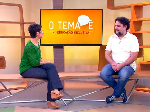 Psicólogo Luiz Henrique de Paula Conceição fala sobre educação inclusiva (Foto: Reprodução)