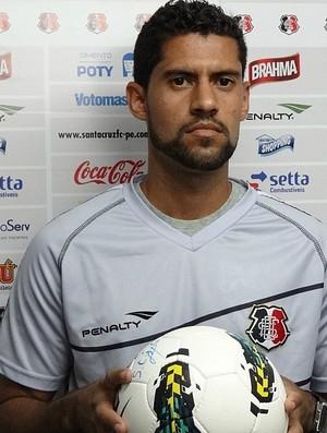 Fred, goleiro do Santa Cruz (Foto: Pedro Costa / GloboEsporte.com)