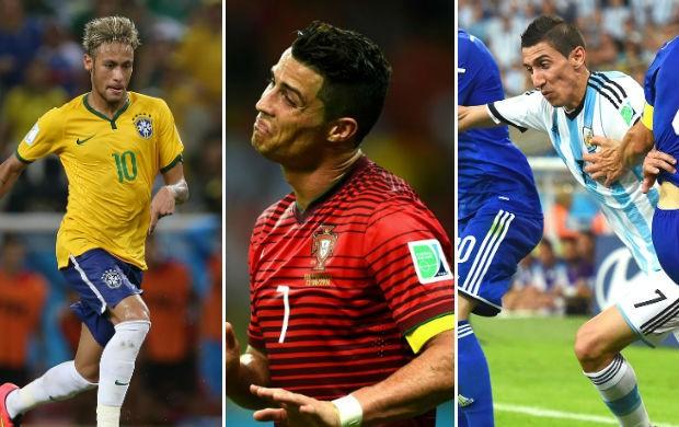 Montagem 10 lances Copa do Mundo (Foto: Arte / SporTV.com)