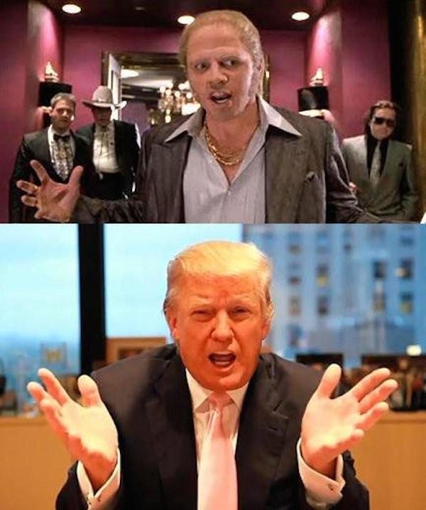 A piada com Donald Trump e 'De Volta para o Futuro' (Foto: Reprodução)