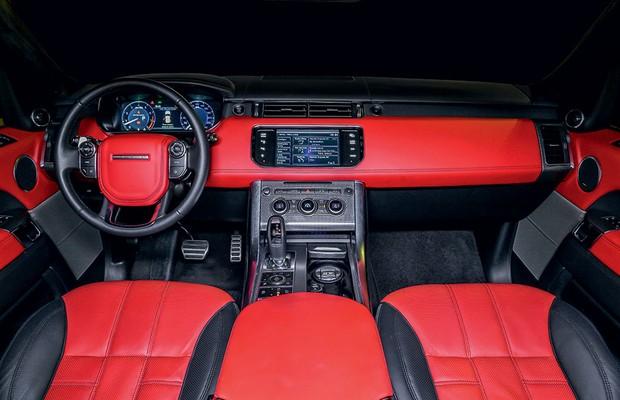 Interior do Land Rover Range Rover Sport (Foto: Rafael Munhoz / Autoesporte)