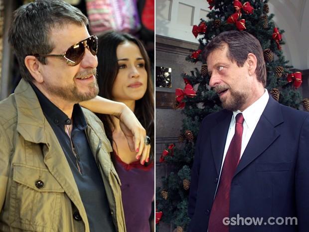Flávio Galvão em cenas de 'Império' e 'Senhora do Destino' (Foto: Pedro Curi/Renato Rocha Miranda/TV Globo)