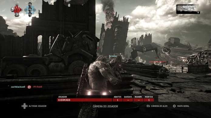 Acompanhe seus companheiros em Gears of War 4 (Foto: Reprodução/Murilo Molina)
