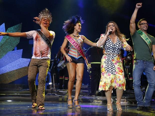 Preta Gil com David Brazil, Sheron Menezzes e Fernando Torquatto em gravação de seu DVD no Rio (Foto: Felipe Panfili/ Ag. News)