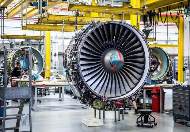 Turbinas da GE Celma para companhias aéreas (Foto: Stefano Martini/GE)