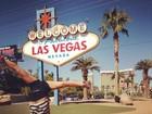 Daniele Suzuki planta bananeira em ponto turístico de Las Vegas