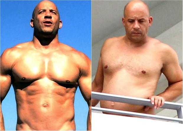 Vin Diesel: antes e depois (Foto: Reprodução / Facebook  | AKM-Gsi Brasil)