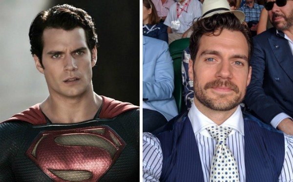 O ator Henry Cavill como Superman e com bigode (Foto: Reprodução/Instagram)