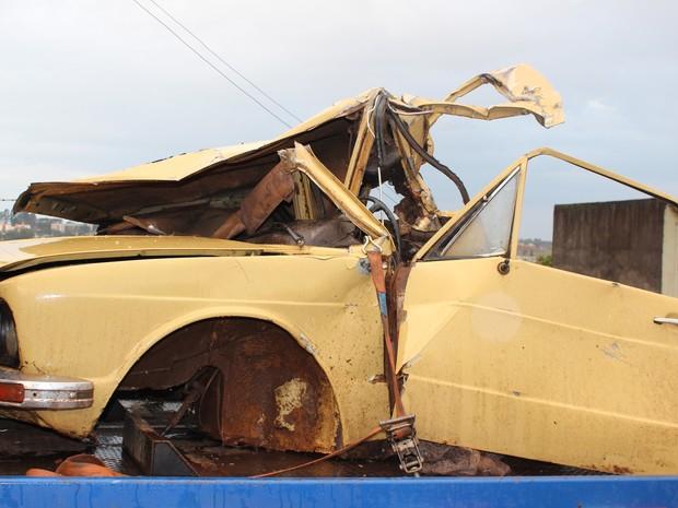 Brasília ficou destruída após o acidente (Foto: Portal Tivi Net/Divulgação)