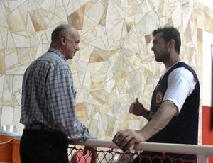 Zé Geraldo e Murilo Becker São José (Foto: Arthur Costa/ Globoesporte.com)