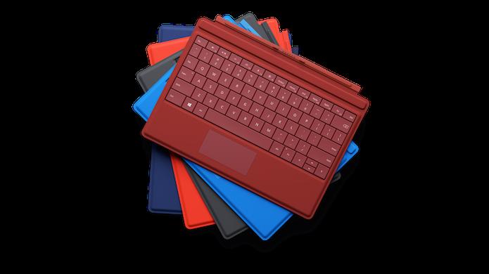 Capas para o Surface 3 (Foto: Divulgação/Microsoft)