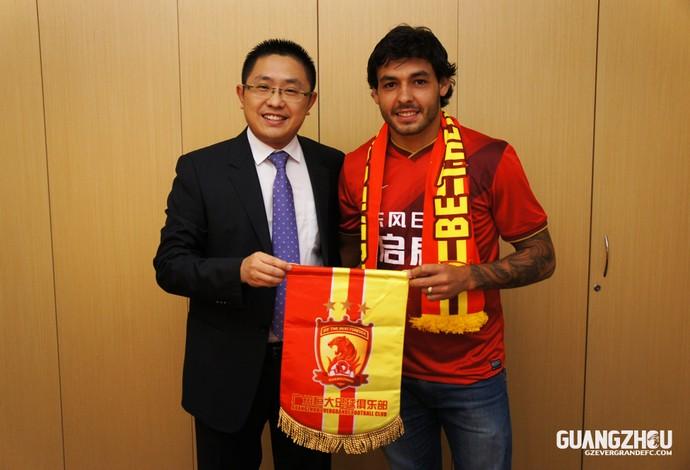 Ricardo Goulart fechou com o time chinês (Foto: Reprodução/Site Oficial)