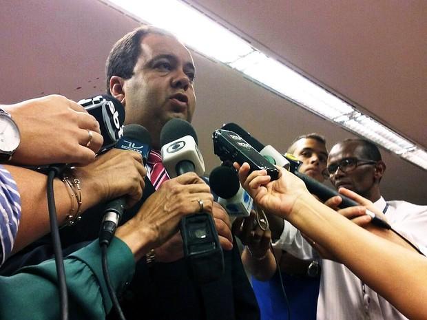 O relator do recurso de Eduardo Cunha na CCJ, deputado Elmar Nascimento (DEM-BA) (Foto: Nathalia Passarinho / G1)