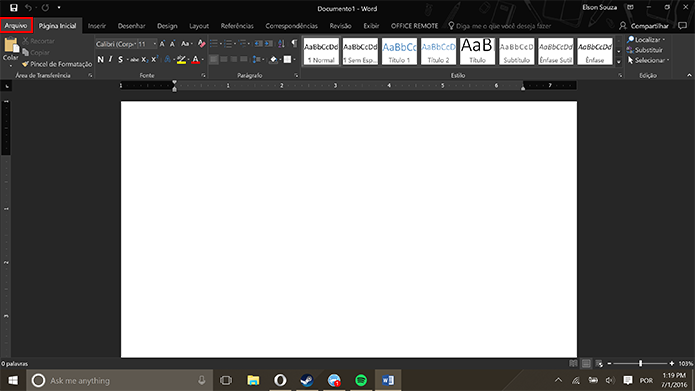 Office 2016 e 365 podem ser atualizados em qualquer aplicativo da suíte (Foto: Reprodução/Elson de Souza)