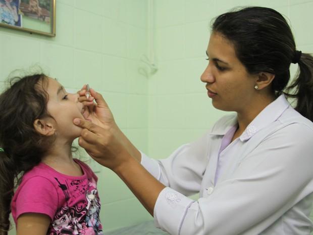 Campanha contra a poliomielite em Casimiro de Abreu (Foto: Juliana Guzzo/Secom Casimiro de Abreu)