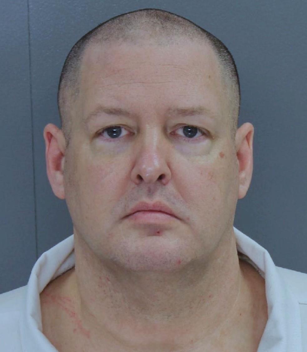 Todd Kohlhepp foi condenado a sete penas de prisão perpétua sem possibilidade de liberdade condicional  (Foto: South Carolina state via AP)