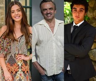 Giovanna Lancellotti, José Dumont e Gabriel Contente | TV e Divulgação