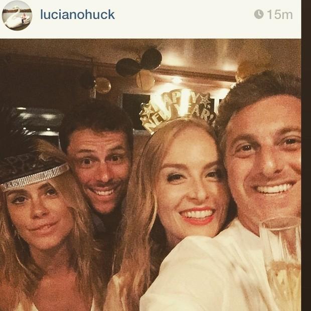 Carolina Dieckmann, Angélica e Luciano Hulk (Foto: Instangram / reprodução)