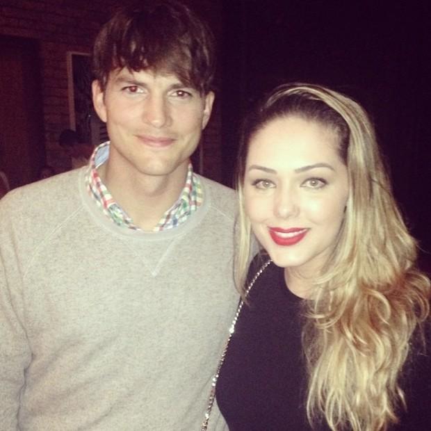 Tânia Mara e Ashton Kutcher (Foto: Reprodução do Instagram)