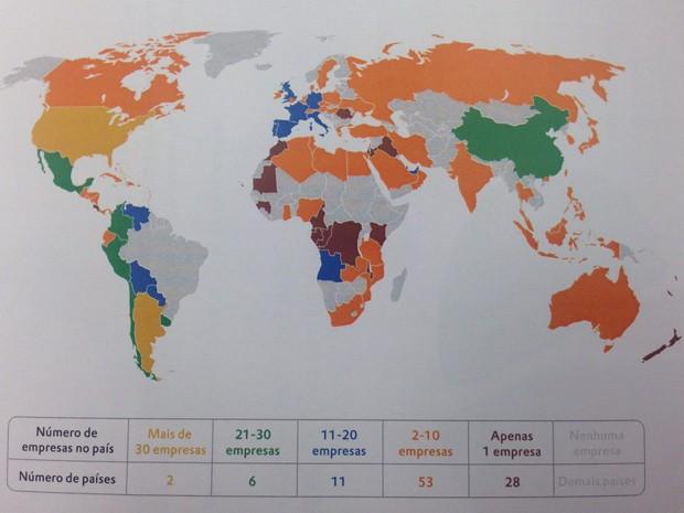 Presença das multinacionais brasileiras no mundo (Foto: Reprodução/FDC)