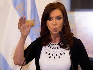 Christina Kirchner, em imagem de arquivo (Foto: AP)
