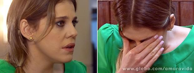 Edith quase não acredita no que seus olhos veem: seu marido é gay! (Foto: Amor à Vida / TV Globo)