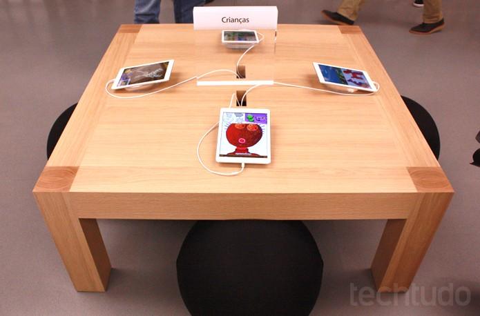 Espaço para crianças na Apple Store Village Mall (Foto: Allan Melo / TechTudo)