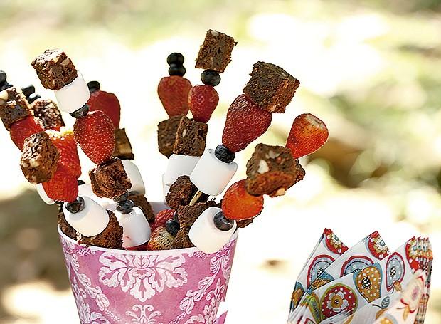 Brownie de chocolate com noz-pecã (Foto: Elisa Correa/ Editora Globo)