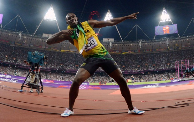 Usain Bolt 200m Olimpíadas 2012 (Foto: Getty Images)