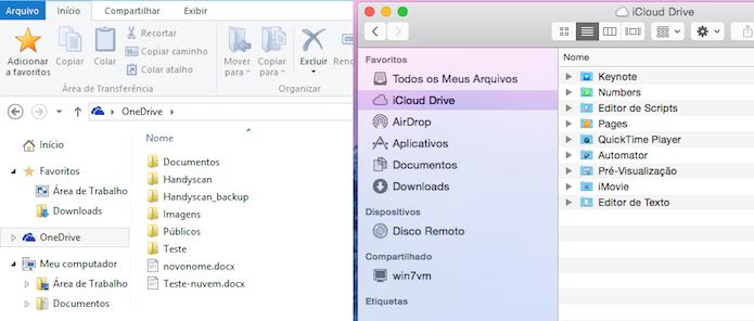 Onedrive e iCloud Drive: A nuvem no desktop (Foto: Reprodução/Edivaldo Brito)