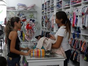 Loja de produtos infantis (Foto: Luna Markman/ G1)